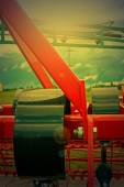 Agricultural equipment in sunset light. Detail 23 — Stock Photo