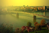 Cityscape in Novi Sad, Serbia, in sunset light 2 — Stock Photo
