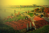 Cityscape in Novi Sad, Serbia, in sunset light 1 — Stock Photo