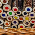Handmade rustic colored pencils 1 — Stock Photo #70389033