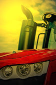 Agricultural equipment in sunset light. Detail 24 — Stock Photo