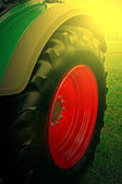 Agricultural equipment in sunset light. Detail 27 — Stock Photo