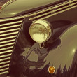 Vintage look at one old italian car  — Stock Photo #70844455