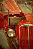 Gamla vykort med en gammal bil 1 — Stockfoto