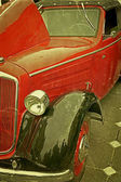 Gamla vykort med en gammal bil 3 — Stockfoto