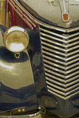 Gamla vykort med en gammal italiensk bil 1 — Stockfoto