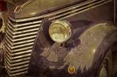 Gamla vykort med en gammal italiensk bil — Stockfoto