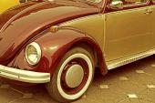 Vintage stil på en gammal tysk bil — Stockfoto