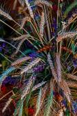 Ornamental bouquet from ears of wheat — Stock Photo