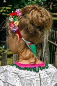 Ukrainian girl head adorned with a band of traditional decoratio — Stock Photo