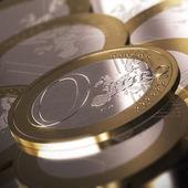 零欧元硬币 — 图库照片