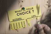 Decision Making, Stop Alcohol — Stock Photo