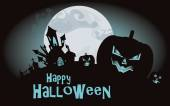 Halloween background. Vector illustration with pumpkins — Vetorial Stock
