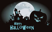 Halloween background. Vector illustration with pumpkins — Vettoriale Stock