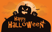 Halloween background. Vector illustration with pumpkins — Vector de stock