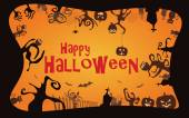 Halloween border background vector illustration — Stock vektor