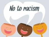 No to racism vector conceptual illustration — Stock Vector
