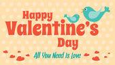 Αγάπη την κάρτα για την ημέρα του Αγίου Βαλεντίνου, διάνυσμα χαριτωμένο στυλ σχεδιασμού — Διανυσματικό Αρχείο