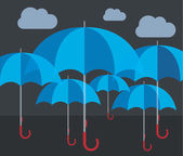 Vector umbrellas illustration abstract weather concept — Stock Vector