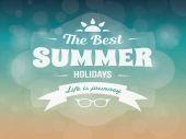 Summer typography vector design vintage vacation poster — Stockvector