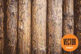 Vector wooden palisade fence texture — Stock Vector