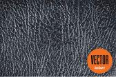 Vector black leather texture dark background — Stock Vector