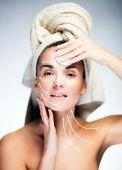 Concept of skin care, surgery arrows — Stock Photo