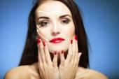 Concepto de belleza con rostro, anti envejecimiento procedimientos — Foto de Stock