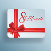 Gift card for 8 march women's day, vector — Stock Vector
