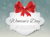 Gift card for 8 march women's day, vector — Cтоковый вектор