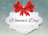 Gift card for 8 march women's day, vector — 图库矢量图片