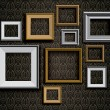 Realistic retro picture frames vector set background — Stock Vector #65613811