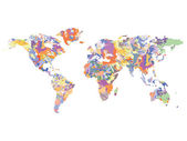Watercolor map of the world, vector illustration — Stock Vector