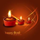 Happy diwali festival colorful line wave celebration card illust — Wektor stockowy