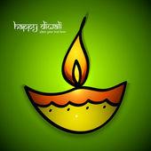 Diya kolorowe sztuki artystycznej piękne happy diwali dla hinduskich fest — Wektor stockowy