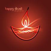 Beautiful happy diwali for colorful celebration hindu festival v — Wektor stockowy