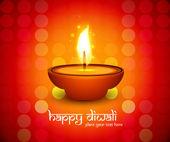 Beautiful Happy diwali diya colorful hindu festival shiny backgr — Wektor stockowy