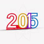Happy New Year 2015 creative colorful celebration design vector — 图库矢量图片