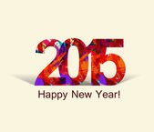Happy New Year 2015 colorful greeting card Holiday design Vector — 图库矢量图片