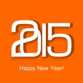 2015 happy new year beautiful celebration design colorful vector — Vetorial Stock
