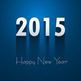 Happy New Year 2015 beautiful blue reflection colorful design  — 图库矢量图片