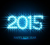 Vector Background for shiny Happy New Year 2015 stars blue color — Vettoriale Stock