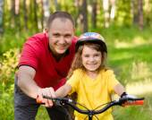 Father and his cute daughter outdoors — Stock Photo
