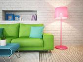 Modern interior room — Stock Photo