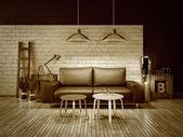 Moderní interiér místnosti — Stock fotografie
