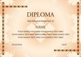オレンジ色の卒業証書のベクトル イラスト — ストックベクタ