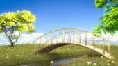 Bridge over creek — Stock Photo