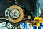 Freni auto servizio di riparazione — Foto Stock