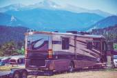 Motorhome Camping — Stock Photo