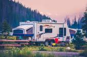 Camper Travel Trailer — Stock Photo